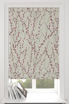 Delicate Willow Red Made To Measure Roman Blind