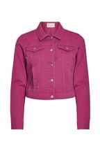 F&F Pink Fuchsia Crop Denim Jacket