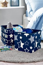 Set of 2 Printed Star Storage Boxes