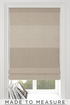 Locksley Stripe Natural Made To Measure Roman Blind