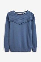 Washed Broderie Sweatshirt