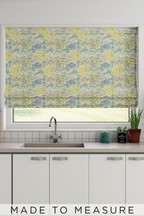 Meadow Floral Juniper Green Made To Measure Roman Blind