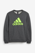 adidas Grey/Green Must Have Crew Top
