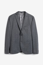 Check Stretch Blazer
