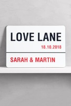 Personalised Love Lane Wall Art by Loveabode