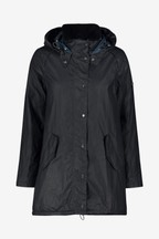 Barbour® Navy Oceanfront Wax Parka Coat