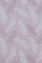 Paste The Wall Blush Feather Wallpaper Sample