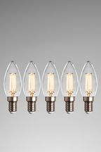 5 Pack 4W LED SES Candle Bulb