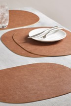 Set of 4 Faux Leather Placemats