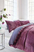 Polka Dot Velvet Duvet Cover and Pillowcase Set