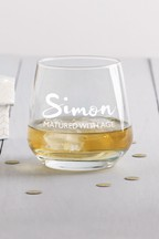 Personalised Glass Tumbler by Loveabode