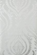 Paste The Wall Damask Silver Wallpaper Sample