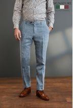 Nova Fides Signature Linen Suit: Trousers