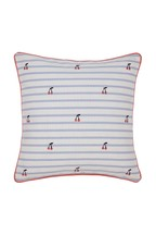Joules Hollyhock Floral Cushion