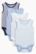 4 Pack Vests (0mths-3yrs)