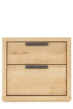 Bronx Light 2 Drawer Bedside Table