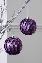 Set of 2 Sequin Baubles