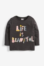 Appliqué Slogan T-Shirt (3mths-7yrs)
