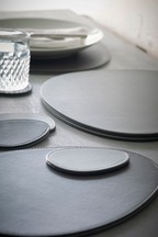 Set of 4 Reversible Pebble Placemats And Coasters