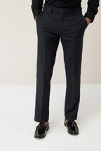 Slim Fit Textured Tuxedo Suit: Trousers