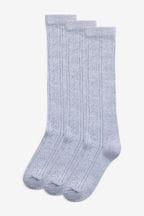 3 Pack Pointelle Knee High Socks