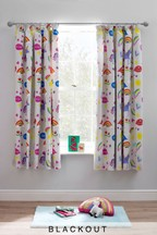Rainbows And Unicorns Blackout Pencil Pleat Curtains
