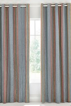 Helena Springfield Macaw Stripe Lined Eyelet Curtains
