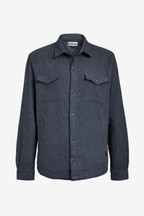 Barbour® Navy Brushed Twill Overshirt