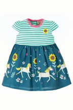 Frugi GOTS Organic Unicorn And Floral Dress