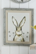 Watercolour Hare Framed Canvas