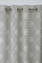 Tile Print Eyelet Curtains