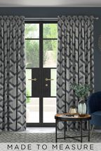 Optical Geo Navy Made To Measure Curtains