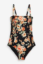 Bandeau Shirred Detail Swimsuit