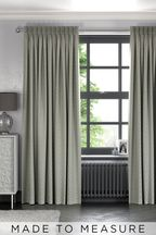 Woven Geo Light Grey Made To Measure Curtains