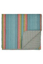 Helena Springfield Macaw Stripe Quilted Throw