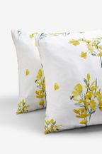 2 Pack Bee Happy Floral Duvet Cover And Pillowcase Set