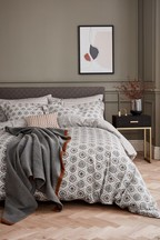 Bedeck of Belfast Alani Geometric Print Cotton Duvet Cover