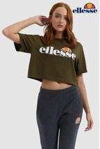 Ellesse™ Khaki Alberta Crop T-Shirt