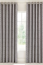 Bedeck of Belfast Alani Batik Printed Cotton Lined Eyelet Curtains