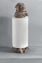 Dog Kitchen Roll Holder