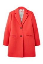 Joules Red Walton Crombie Coat