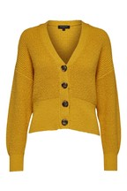 Selected Femme Yellow Cropped Olivia Cardigan