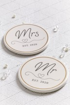 Set of 2 Mr And Mrs Coasters Coasters