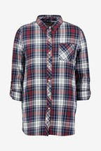 Barbour® Coastal Navy Check Long Line Shirt