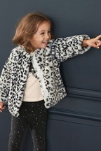 Animal Faux Fur Jacket (12mths-7yrs)