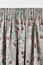 Aubrey Mirror Floral Pencil Pleat Curtains