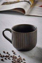 Metallic Embossed Mug
