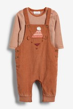 Cord Bear Dungaree And Bodysuit Set (0mths-2yrs)