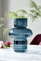 Contemporary Shaped Glass Vase