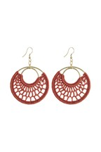 Macramé Style Circle Drop Earrings